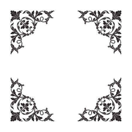 Classical baroque vector of vintage element for design. Decorative design element filigree calligraphy vector.