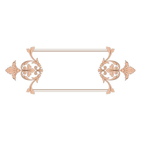 Vector barroco clásico del elemento de la vendimia para el diseño. Elemento de diseño decorativo vector de caligrafía de filigrana. Foto de archivo - 92203563