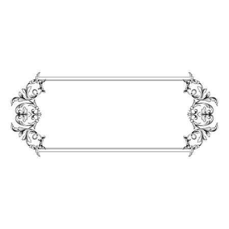 Classical baroque vector of vintage element for design. Decorative design element filigree calligraphy vector.