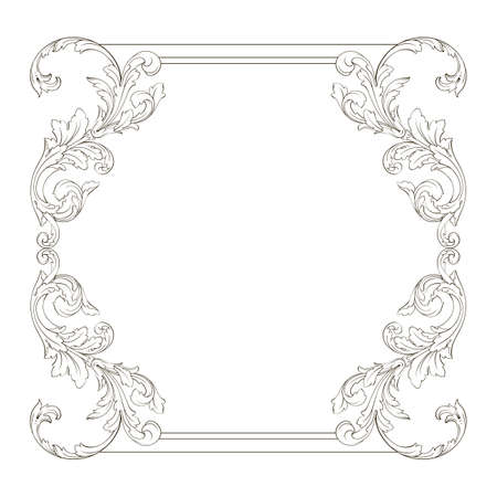 Classical baroque frame vector of vintage element