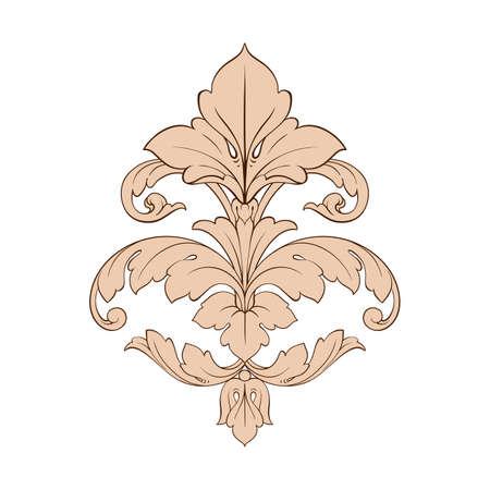 Classical baroque vector pattern of vintage element Illustration