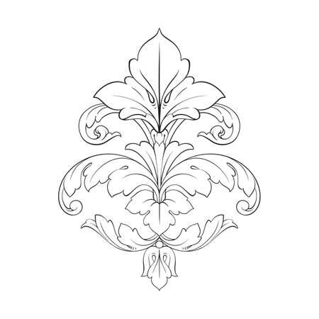 Classical baroque vector ornament of vintage element