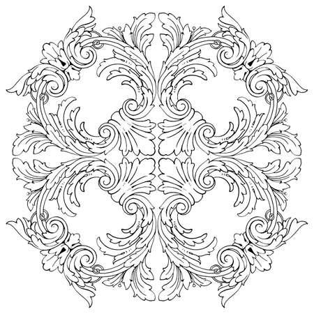 Classical baroque vintage design