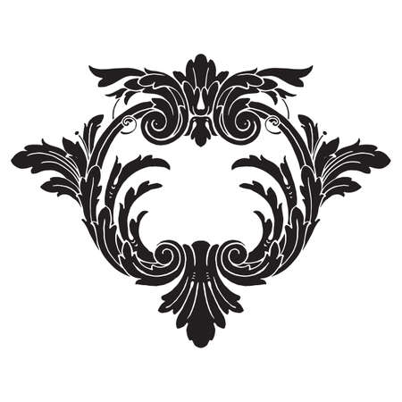 Classical baroque vector of vintage elements for design. Decorative design element filigree calligraphy vector. You can use for wedding decoration of greeting card and laser cutting. Illustration