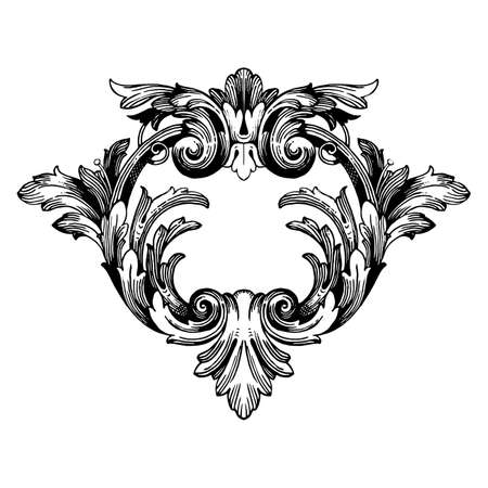 Classical baroque vector of vintage elements for design. Decorative design element filigree calligraphy vector. You can use for wedding decoration of greeting card and laser cutting. 일러스트