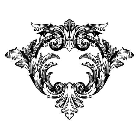 Klassieke barokke vector van vintage elementen voor ontwerp. Decoratieve filigraan kalligrafie vectorontwerpelement. U kunt gebruiken voor bruiloft decoratie van wenskaart en lasersnijden. Stock Illustratie