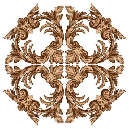 Classical baroque design Illustration