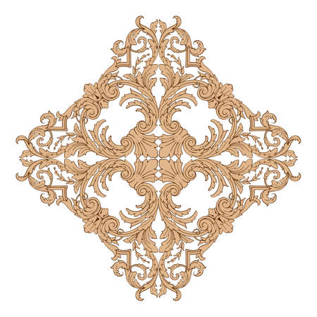 Classical baroque vintage design