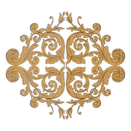 Vintage baroque frame. Illustration