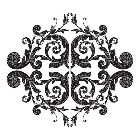 Vintage baroque frame. Illustration