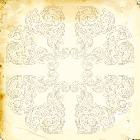 Retro baroque decorations element with flourishes calligraphic ornament.