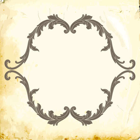 Retro baroque decorations element with flourishes calligraphic ornament. Vintage style design collection for Posters, Placards, Invitations, Banners, Badges and Logotypes. Foto de archivo - 102162177