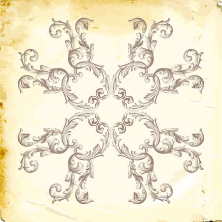 Retro baroque decorations element with flourishes calligraphic ornament. Vintage style design collection for Posters, Placards, Invitations, Banners.