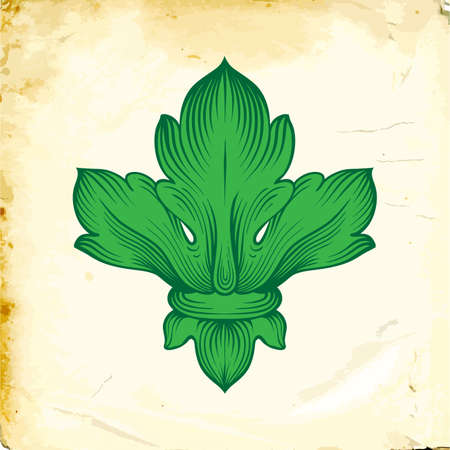 Elemento de decoración barroca retro con adornos caligráficos floridos. Colección de diseño de estilo vintage para carteles, pancartas, invitaciones, pancartas, insignias