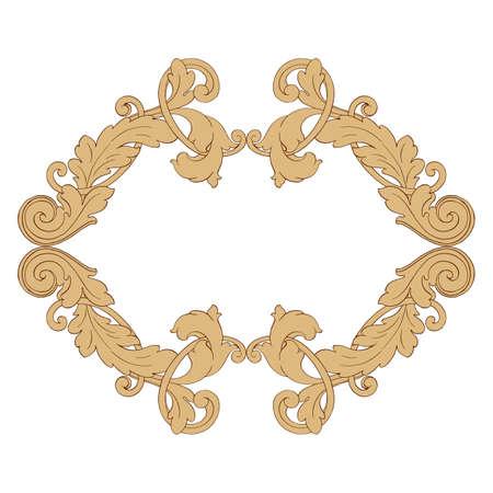 Elemento di decorazioni barocche retrò con svolazzi ornamento calligrafico. Collezione di design in stile vintage per poster, cartelli, inviti, striscioni, distintivi