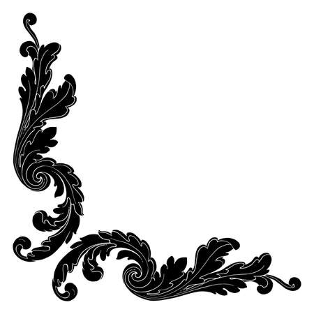Retro baroque decorations element with flourishes calligraphic ornament. Vintage style design collection for Posters, Placards, Invitations, Banners, Badges