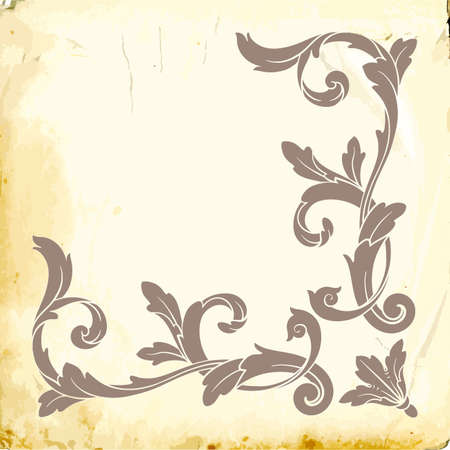 Retro baroque decorations element with flourishes calligraphic ornament. Vintage style design collection for Posters, Placards, Invitations, Banners, Badges and Logotypes. Logo