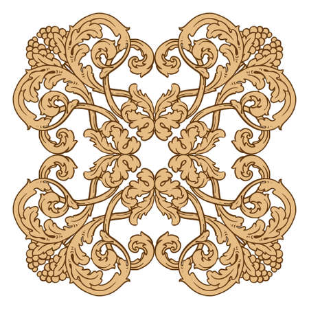 Retro baroque decorations element with flourishes calligraphic ornament. Vintage style design collection for Posters, Placards, Invitations, Banners, Badges.
