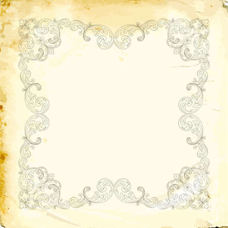 Retro baroque decorations element with flourishes calligraphic ornament. Vintage style design collection for Posters, Placards, Invitations, Banners, Badges .