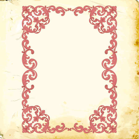 Retro baroque decorations element with flourishes calligraphic ornament. Vintage style design collection for Posters, Placards, Invitations, Banners, Badges Çizim