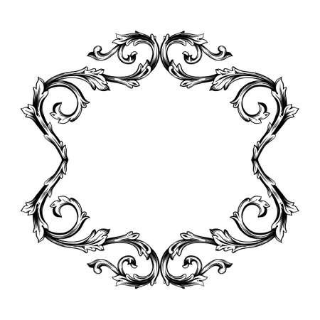Classical baroque set of vintage elements for design. Decorative design element filigree calligraphy