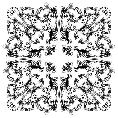 Classical baroque vector set of vintage elements for design. Decorative design element filigree calligraphy vector. You can use for wedding decoration of greeting card and laser cutting. Illusztráció