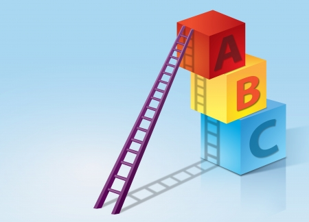 baby playing toy: Step Ladder and ABC Boxs Stack Up
