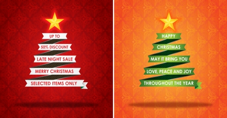 Sales Marketing Banner and Christmas Greeting Card Vector