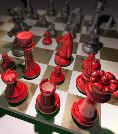 pensamiento estrategico: Juego de ajedrez de la estrategia requiere la toma de decisiones estratégicas, la concentración, la táctica, y la evaluación son excelentes para mejorar la habilidad para los negocios y el marketing