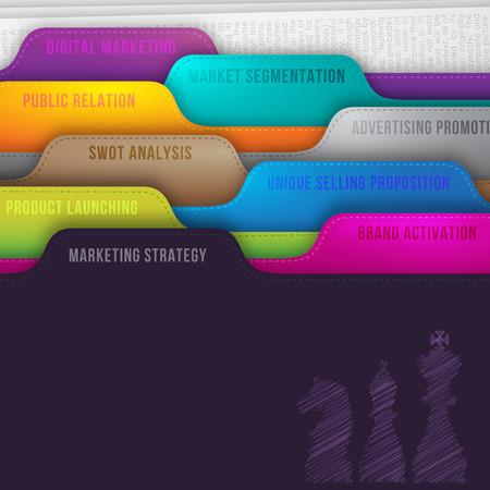 planeación estrategica: Estrategia de comercialización Foto de archivo