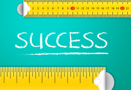 Measuring Business Success and Achievement Vector