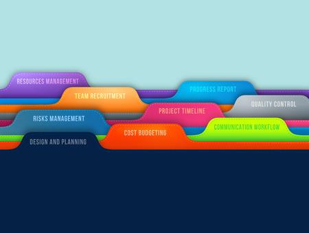 성공적인 비즈니스 프로젝트 관리 요소의 개념 스톡 콘텐츠 - 39366166