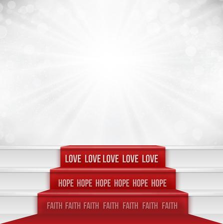 geloof hoop liefde: Faith Hope Love Religieuze Concept