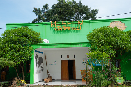 Ciletuh, 28 April 2019 : Entrance of Conservation Museum at UNESCO Global Geopark Ciletuh Pelabuhanratu