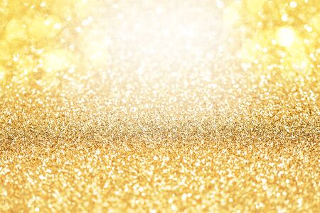 Yellow Gold Sparkle Glitter Abstract