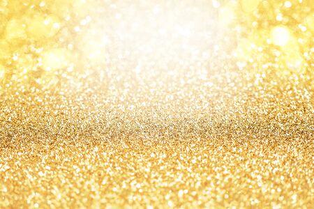 Yellow Gold Sparkle Glitter Abstract Standard-Bild - 128806957