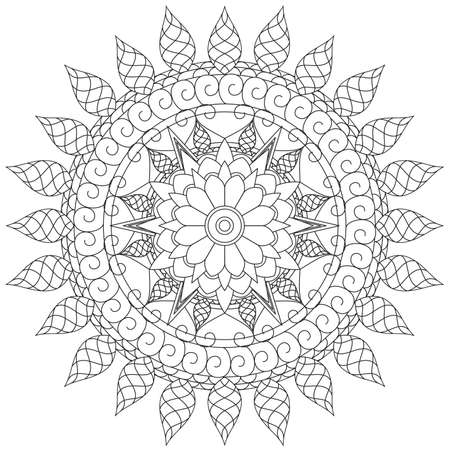 Mandala Intricate Patterns Black and White. A geometric lace element, suitable for print on various things, card or invitations designs in ethical style, ottoman motifs, turkish, Islam, Arabic, Indian