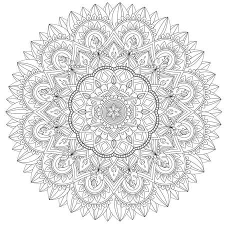 Mandala Intricate Patterns. Vintage decorative pattern.Hand drawn background.Suitable for printing on fabric and paper. Arabic, Islam,Indian, ottoman motifs.You can change the background.