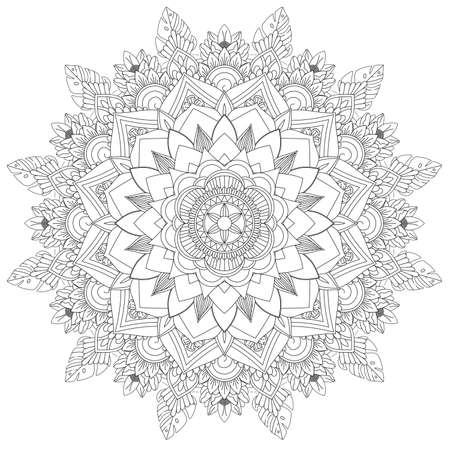 Mandala Intricate Patterns. Vintage decorative pattern.Hand drawn background.Suitable for printing on fabric and paper. Arabic, Islam,Indian, ottoman motifs.You can change the background. Imagens