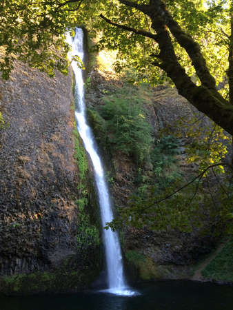 oregon cascades: Waterfall in the Mountains