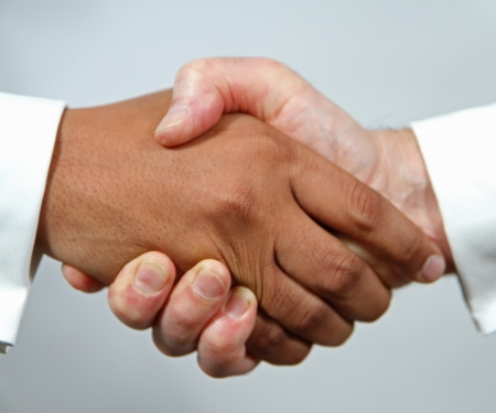 black handshake: Agreement