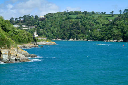 The estuary leading to the town of Dartmouth in Devon photo