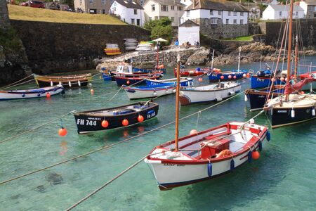 Boats in the harbour at Coverack, Cornwall Stock Photo - 12315866