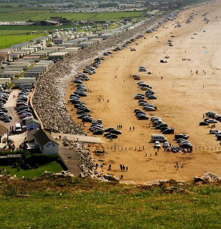bristol channel: Brean beach Editorial