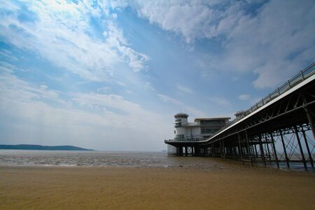 brean: Grand Pier Weston-super-Mare in wide angle