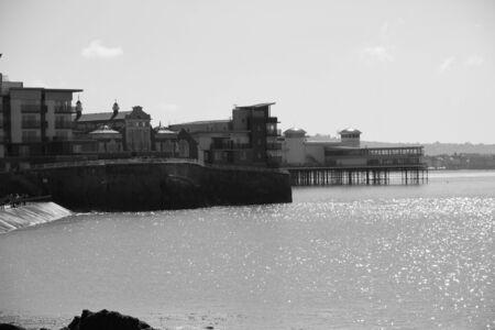 birnbeck: Knightstone Island e Weston Pier Archivio Fotografico