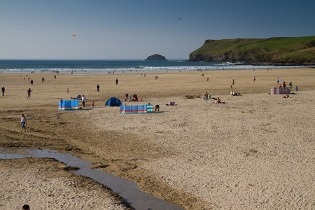 Looking out to sesa from the beach at Polzeath, Cornwall