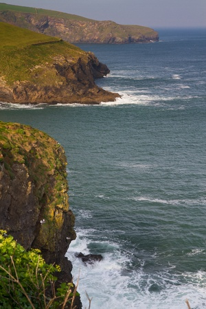 Cornish Peninsulas photographed from the cliff path in Port Isaac Stock Photo - 13055577