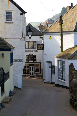 A street in Port Isaac, Cornwall
