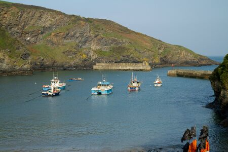The harbour and bay at Port Isaac, Cornwall